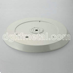 Deep drawing aluminum painted white plate
