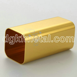 Anode yellow oblong lid aluminum part